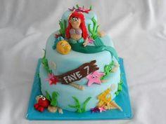 Ariel de zeemeermin taart