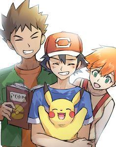 Ash Pokemon, Pokemon Team, Brock Pokemon, Pokemon Ash And Misty, Pokemon People, Pokemon Fan Art, Pikachu Drawing, Pokemon Sketch, Pokemon Images