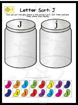 February Week1: J is for Jar Sorting activity