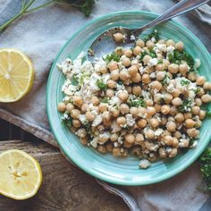 Chickpea Salad with Feta and Garlic
