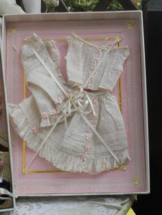 ~~~ Superb French Poupee Costume Presentation in Box ~~~ from whendreamscometrue on Ruby Lane