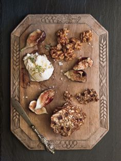 Smashed Figs with Walnuts and Burrata