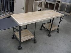 Repurpose: Two Vintage Typewriter Tables now One Ultra Cool Desk