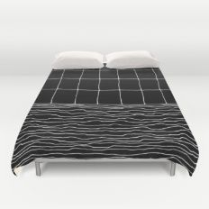 Hand Drawn Grid Duvet Cover