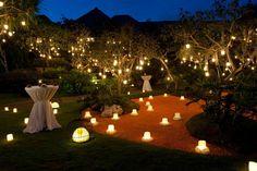 Decoração com luzes para casamento- Casamento em Gramado