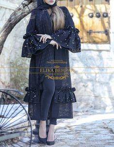 Abaya Fashion, Muslim Fashion, Modest Fashion, Fashion Outfits, Mode Abaya, Iranian Women Fashion, Sleeves Designs For Dresses, Pakistani Dress Design, African Fashion Dresses