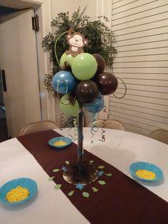 monkey themed baby shower ideas | Monkey Themed Baby Shower | Boy baby shower ideas