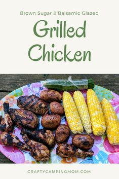 Brown Sugar & Balsamic Glazed Grilled Chicken Recipe Healthy Grilling, Grilling Recipes, Grilling Tips, Healthy Eats, Food Preparation, Healthy Dinner Recipes, Chicken Carbonara Recipe, Balsamic Glaze, Smoke Grill