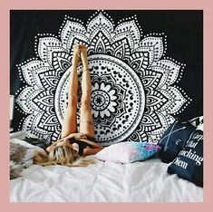 200*150cm Printed Lotus Tapestry Bohemia Mandala Tapestry Wall Hanging For Wall Decoration Hippie Tapestry Beach Mat Yoga Mat