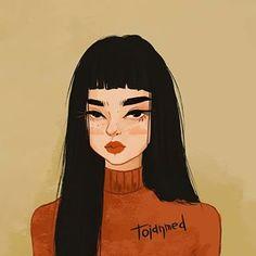 Image may contain: 1 person - Camp Tutorial and Ideas Arte Indie, Cartoon Art Styles, Art Hoe, Anime Art Girl, Art Sketchbook, Aesthetic Art, Cute Drawings, Cute Art, Art Inspo