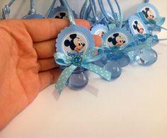 12 chupetes de ducha de bebé Mickey Mouse Mickey Mouse bebé