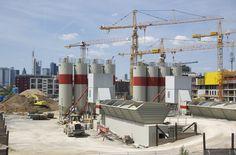 Baustelle EZB Neubau 2011, Frankfurt