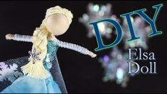 The Untidy Artist is your go to hub for DIY tutorials and how to videos. I focus on DIY doll making, DIY hair accessories, DIY hair bows, DIY Holiday decor, . Diy Elsa Doll, Diy Doll, Doll Making Tutorials, Fairy Crafts, Felt Crafts, Wood Crafts, Winter Fairy, Clothespin Dolls, Diy Hair Bows