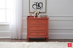Coral Accent Table  Makeover: Easily turn any end table or night stand into the focal point of your room with a fresh coat of spray paint.