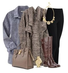 Fall Outfit by uniqueimage on Polyvore featuring polyvore fashion style Old Navy Naturalizer Michael Kors MICHAEL Michael Kors Kate Spade clothing