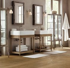 Bathroom Restoration most people are looking for more luxury and more overall space and storage in the bathroom call us today at 888 523 2061 or fill out our online request Restoration Hardware Bathroom These Sinks Are So Dadburn Simple They Are Elligant