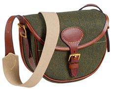 Musto Tweed/Leather Cartridge Bag Heath #Barbour #Equestrian #Fashion #Bestinthecountry