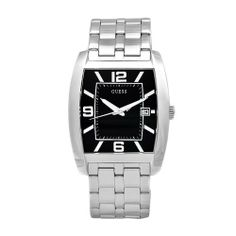 GUESS Men's W85051G1 Steel Stainless Steel Black Guilloche Dial Watch GUESS. $110.50. Japanese-Quartz movement. Scratch-resistant mineral crystal. Stainless steel case and bracelet. Black dial; Guilloche pattern; Date window; Luminescent hands. Water-resistant to 99 feet (30 M). Save 39%!