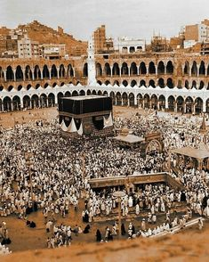 Once upon a time. Islamic Images, Islamic Pictures, Islamic Art, Masjid Haram, Mecca Masjid, Pilgrimage To Mecca, Ancient Mexican Civilizations, History Of Islam, Mekkah