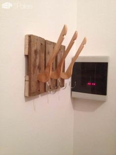 Recycled Pallets by Giugio Design Pallet Shelves & Pallet Coat Hangers