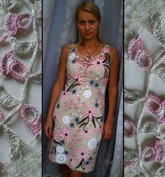 """Платье """"Япония"""" - ирландское кружево,Вязание крючком,вязаное платье,платье летнее"""