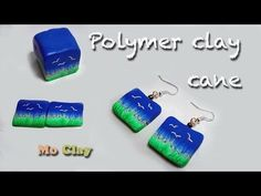 Diy, how to make landscape cane - polymer clay earrings tutorial - YouTube