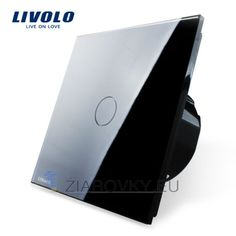 Livolo EU Standard, Wall Switch Crystal Glass panel, 2 Gangs 1 Way, Wall Light Touch Screen Switch Touch Light Switch, Ultra Hd 4k, Love Store, Home Automation System, Dimmable Led Lights, Contemporary Interior Design, Black And White Colour, Black Crystals, Black Glass