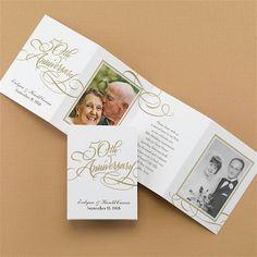Golden Reflections #50th #Anniversary #Invitation
