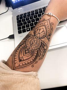 mini tattoos with meaning . mini tattoos for girls with meaning . mini tattoos behind ear Mandala Tattoo Design, Mandala Hand Tattoos, Henna Arm Tattoo, Mandala Tattoo Sleeve Women, Mandala Tattoo Back, Snake Tattoo, Arm Cuff Tattoo, Mandala Tattoos For Women, Tribal Hand Tattoos