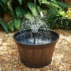 Container water feature operating with a smartpond Container Fountain Kit  #pondplanet #containerpond #waterfeature  http://www.pondplanet.com/container-fountain-kit?filter_name=ACFK