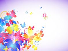 Abstract Colorful Butterflies PPT Templates
