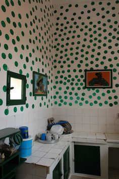 Senegal - polka dot wall