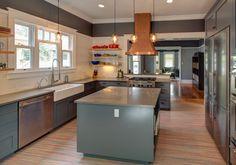 Portland kitchen remodel by hammer & hand marmoleum floor kitchen