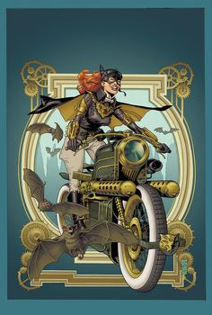 10 Delightfully Smashing Steampunk Comic Covers From DC DC's New 52 Goes Steampunk in February - Batgirl variant by J. JonesDC's New 52 Goes Steampunk in February - Batgirl variant by J. Batwoman, Dc Batgirl, Nightwing, Batgirl Logo, Design Steampunk, Steampunk Kunst, Steampunk Fashion, Steampunk Artwork, Steampunk Pirate