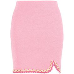 Boutique Moschino Knee Length Skirt ($300) ❤ liked on Polyvore featuring skirts, pink, knee high skirts, pink knee length skirt, knee length skirts and pink skirt