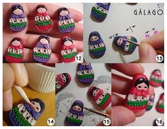 tutorial polymer clay matrioshka buttons