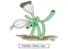 French Onion Dip with Vidalia onions Punny Puns, Cute Puns, Lame Jokes, Funny Jokes, Funny Cartoons, Cartoon Jokes, French Puns, French Sayings, Marriage Cartoon
