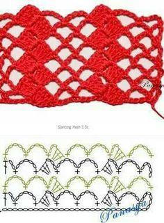 pl - Odkryvay, kolekcjonuj, inspiruj - Love You PinteresetThis Pin was discovered by Lee Crochet Diagram, Crochet Chart, Filet Crochet, Crochet Motif, Easy Crochet, Crochet Lace, Doilies Crochet, Crochet Borders, Cotton Crochet