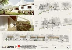 Gallery First Place in Contest Casa del Campesino New Gramalote / Colombia - 10 Architecture Portfolio Examples, Architecture Panel, Architecture Student, Architecture Drawings, Beautiful Architecture, Modern Architecture, Architecture Presentation Board, Presentation Layout, Presentation Boards