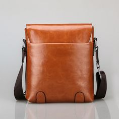 Men Business Retro Hasp PU Leather Shoulder Bags Crossbody Bags is hot-sale 8919402fc7329