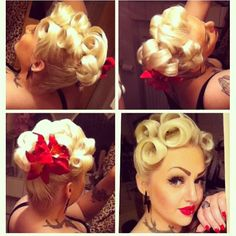 Eva-Maria Pandämonium. Rockabilly Hair!