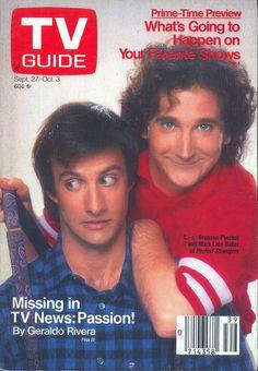 Bronson Pinchot and Mark Linn-Baker (Perfect Strangers) on the cover of TV Guide - (Sept. 27, 1986)