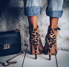 Leopard shoes - jeans