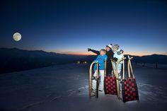 Die längste beleuchtete Rodelbahn der Welt führt auf einer Länge von 14 Kilometern von Neukirchen nach Bramberg. - Wanderhotel Gassner #funinthesnow #urlaubindenbergen #genuss #imfreien