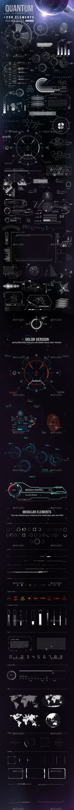 Quantum - HiTech HUD Creator Kit Template #design Download: http://graphicriver.net/item/quantum-hitech-hud-creator-kit/9020363?ref=ksioks