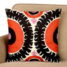 Goes with nothing we own, but I like it anyway. World Market, Red & Black Gypsy Suzani Toss Pillow