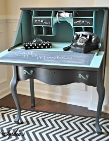 Vintage Desk redo. I want to do this to my Gran's old red desk