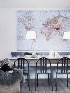 #map in kitchen #decor #home