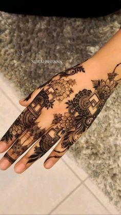 Pretty Henna Designs, Modern Henna Designs, Indian Henna Designs, Floral Henna Designs, Henna Tattoo Designs Simple, Latest Bridal Mehndi Designs, Full Hand Mehndi Designs, Mehndi Designs Book, Mehndi Designs For Beginners