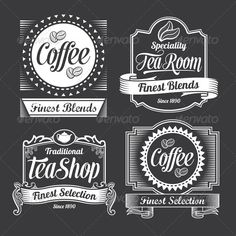 Chalkboard Calligraphy Banners and Labels  EPS Template • Download ➝…